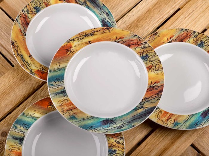 Banyan Trees - Rimmed Soup Bowl preview