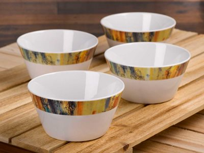Banyan Trees - Oatmeal Bowl, Set of 4