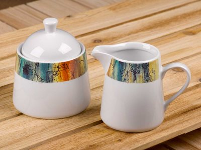 Banyan Trees - Creamer Jug and Covered Sugar Set