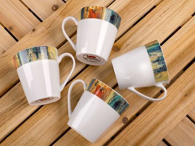 Banyan Trees - 12oz Porcelain Mug, Set of 4