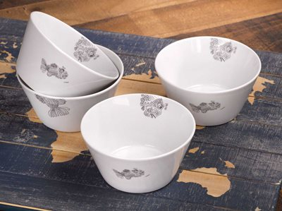 Fish - Oatmeal Bowl, Set of 4